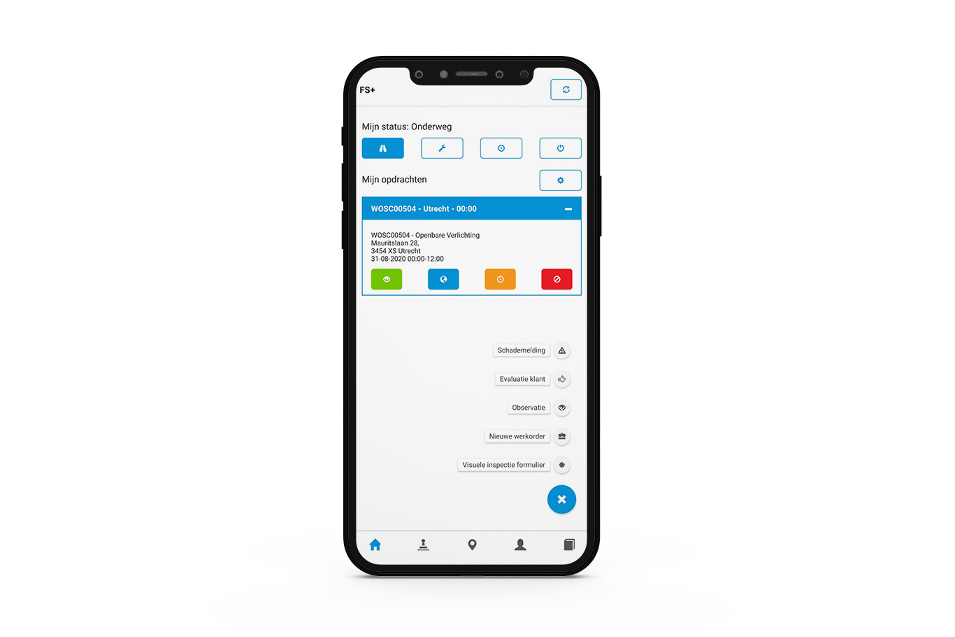 Mobiele Field Service Plus app